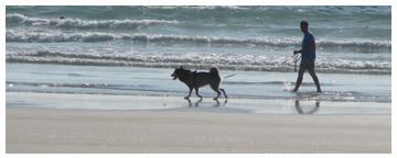 Mit Hund am Strand von Tréguennec