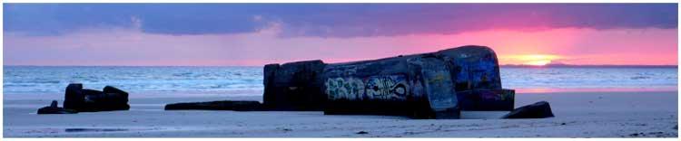bunker am Bunker am Strand von Tréguennec im bunker am Strand von Tréguennec im Pays Bigouden