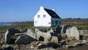 Ausgrabungsstätte nahe der Bretagne Häuser